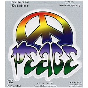 A337 - Tagged Peace Sign Art Decal Window Sticker