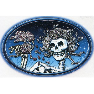 A353 - Skulll & Roses Art Decal