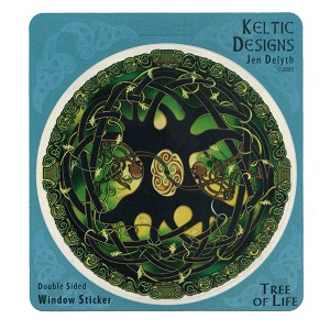 A385 - Celtic Tree of Life by Jen Delyth Art Decal Window Sticker