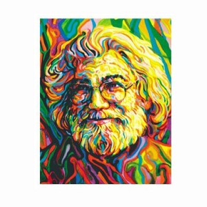 A433 Jerry Garcia Impressionist Portrait Grateful Dead Art Decal Window Sticker