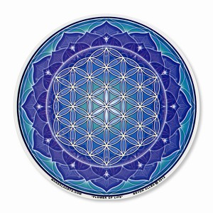 A435-MAG Flower of Life Yoga Meditation Lotus Mandala Magnetic Sticker