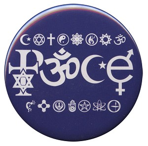 B009 - Peace in SymbolGlyphs Button