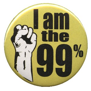 B039 - I am the 99%! Fist Button