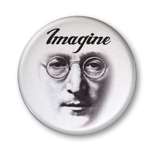 B180 - Imagine - John Lennon Button
