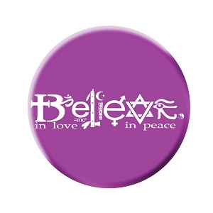 B453 - Believe in Peace, Believe in Love Pin Back Button