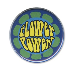 B495 - Flower Power Psychedelic Hippie Button
