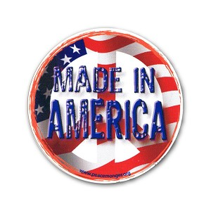 CM014 - Peace - Made in America Color Mini Sticker