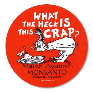 CM023 - What the heck is this crap? March Against Monsanto! Mini Sticker