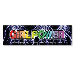 CS364-SCL Girl Power Women's Rights March Protest Rally Sign Lg STATIC CLING Sticker
