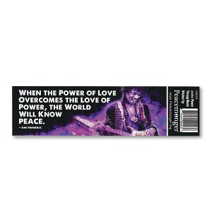 CM106 Power of Love Jimi Hendrix Quote Peace Color Mini Sticker
