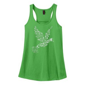 WTK004 - Coexist Peace Dove Interfaith Womens Racer Back Tank Top