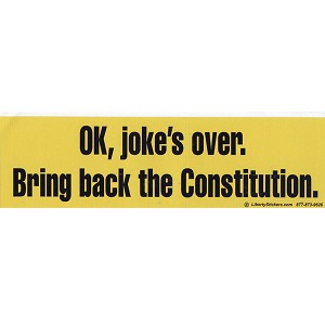 CS03 - Jokes Over Large Full Color Bumper Sticker