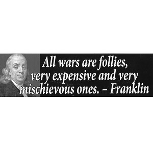 CS008 - Wars are Follies Large Full Color Bumper Sticker