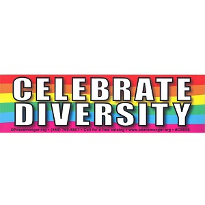 CS107 - Celebrate Diversity Rainbow  Color Bumper Sticker