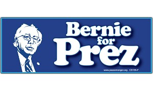CS155-F - Bernie For Prez Color Sticker