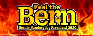 CS155-N   Feel The Bern Bernie Sanders for President 2020 Candidate Elections Color Sticker