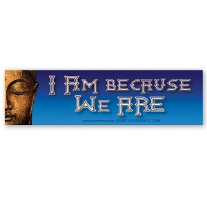 CS299 - I Am Because We Are - Buddhist Quote Color Sticker Buddha
