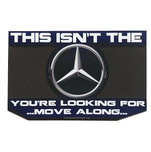 Cs325 Mercedes Benz Star Wars Parody Jedi Mind Trick Color Sticker