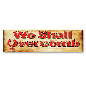 CS367 We Shall Overcomb Womens March Protest Rally Sign Sticker Decal
