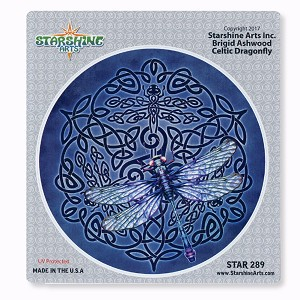 CS384 Celtic Dragonfly Brigid Ashwood Tribal Totem Sticker Decal