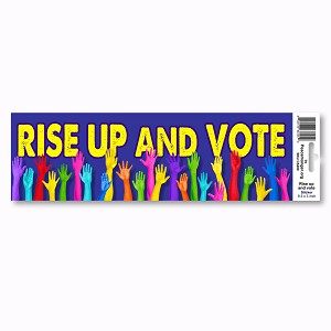 CS400 Rise Up and Vote Election Day Sticker Decal