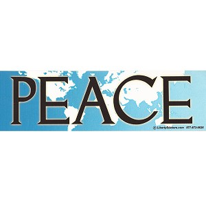 CS63 - Blue Earth Peace Large Full Color Bumper Sticker