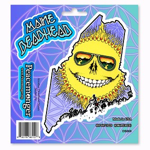 DS069 Grateful Maine Deadhead Skeleton Sun Dead State 3 Sticker Set