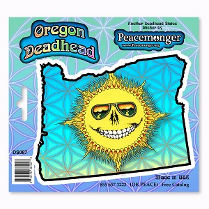 DS087  Grateful Oregon Deadhead Dead State Skeleton Sun Sunshine Daydream 3 Sticker Decal Set