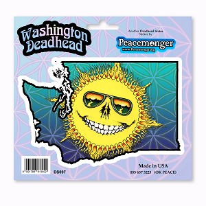 DS097 Washington Deadhead Skeleton Sunshine Grateful Dead Sticker Decal