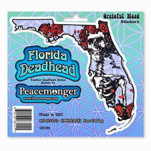 DS109-MAG Florida Deadhead Bertha Skeleton and Roses Grateful Dead Magnet