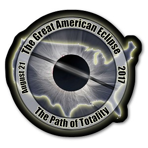 EC001 Great American Eclipse 2017 Sticker - USA