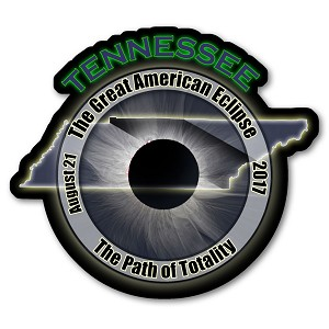 EC005 - Tennessee -  Great American Eclipse 2017 Sticker
