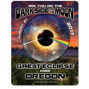 EC025 - Oregon - Dark Side of the Moon Total Solar Eclipse 2017 Sticker