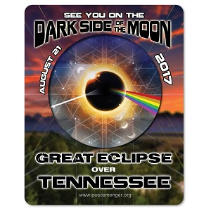 EC031 - Tennessee - Dark Side of the Moon Total Solar Eclipse 2017 Sticker