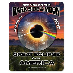 EC036 - America - Dark Side of the Moon Total Solar Eclipse 2017 Sticker