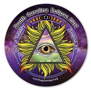EC039 - South Carolina All Seeing Eye Total Eclipse Souvenir Sticker
