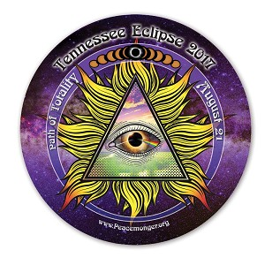 EC043 - Tennessee All Seeing Eye Total Eclipse Souvenir Sticker