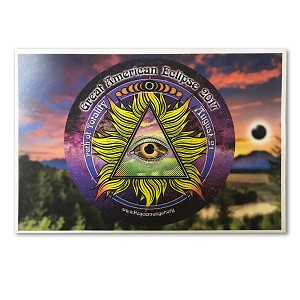 EC052 - Great American Eclipse All Seeing Eye Postcard
