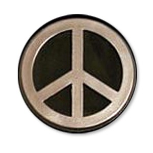 F24 - Peace Symbol 3D Chrome Auto or Truck Emblem