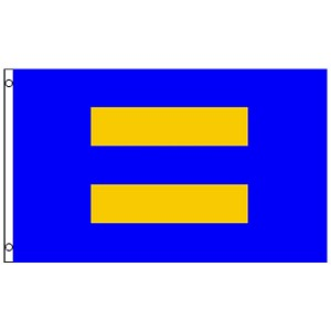 FLG022 - Human Rights Equal Sign Flag