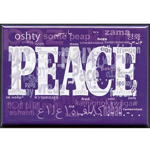 FM006 - Language of Peace Fridge Magnet