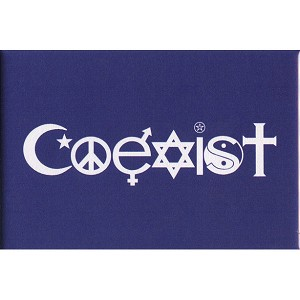 FM013 - Coexist in Symbols Fridge Magnet
