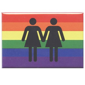 FM070 - Lesbian Love LGBT Rights Rainbow Fridge Magnet