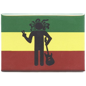 FM073 - Rasta Man Peace Sign Fridge Magnet