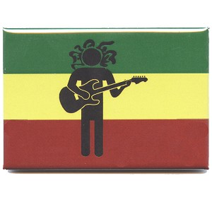 FM074 - Rasta Man Guitar Fridge Magnet