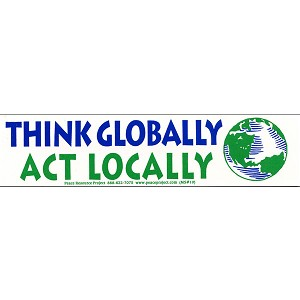 MS16 - Think Globally Act Locally Mini Sticker