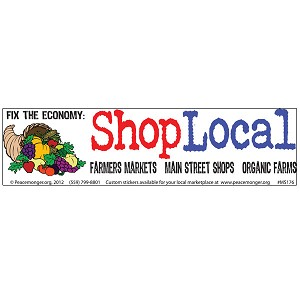 CS121 - Fix the Economy: Shop Local Color Bumper Sticker