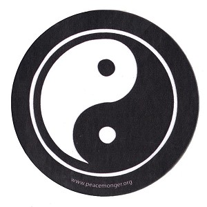 MS187 - Yin Yang Taoism Single Symbol Mini Sticker