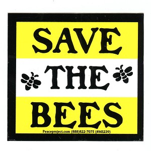 S539 - Save the Bees Bumper Sticker