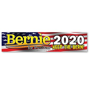 MS264-A Bernie for President 2020 - Keep the Bern! Color Mini Sticker